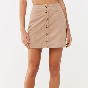 Corduroy Button-Up Skirt NWOT